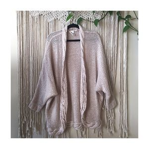 H&M Pink Knit Cocoon Cardigan